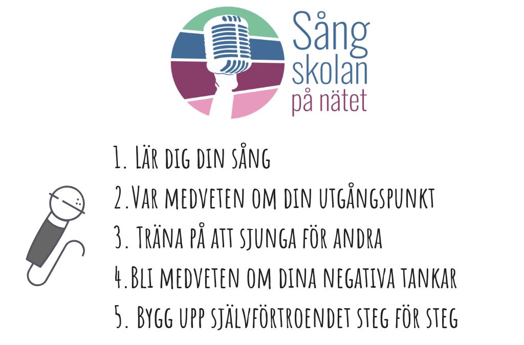5 bästa tipsen – Få bättre självförtroende som sångare